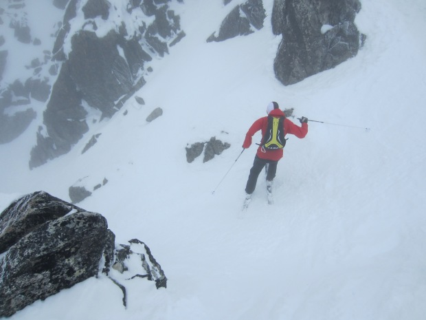 On attempt at an efficient Spearhead Traverse, Eric and I were a touch overoptimistic about the weather.