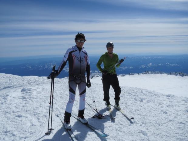 Eric and I on the summit of Mt. Rainier.