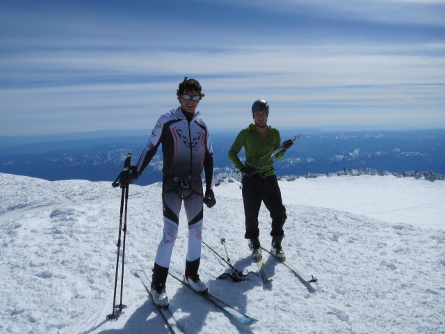 Eric and I on the summit of Mt. Rainier.