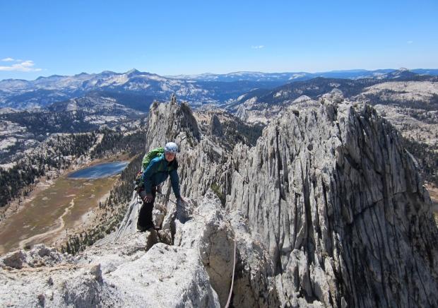 Karina on the summit of Matthes Crest.