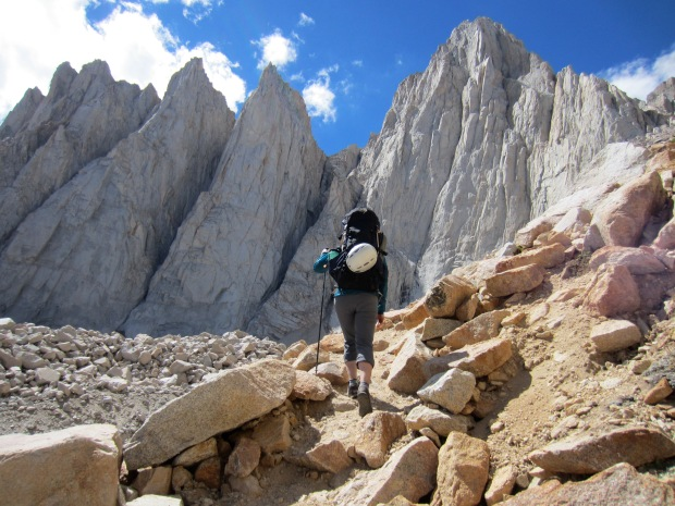 Approaching Mt. Whitney.
