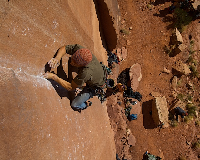 Climbing in Indian Creek. Photo: Jeremy Frimer.